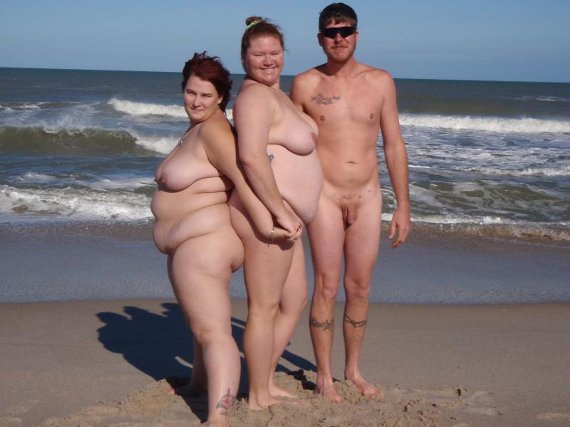 husband and wife nude beach - sex photo
